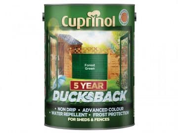 Ducksback 5 Year Waterproof for Sheds & Fences Forest Green 5 litre